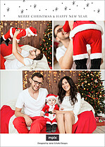 Christmas Glint Christmas Foil Pressed Cards - Back