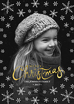 Cool Burst Christmas Foil Pressed Cards - Front