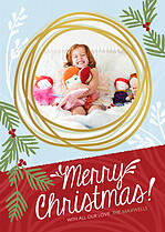 Merriest Dream Christmas Foil Pressed Cards - Front
