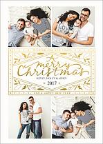 Vivid Crest Christmas Foil Pressed Cards - Front