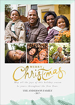 White Out Christmas Foil Pressed Cards - Front