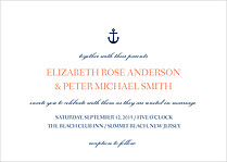 Anchors Away Invite Wedding Invites Flat Cards - Front