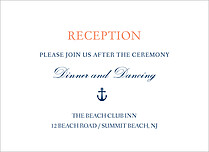 Anchors Away Reception Reception Flat Cards - Front
