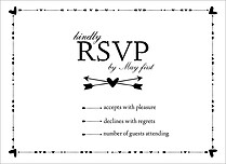 Beating Hearts RSVP RSVP Flat Cards - Front