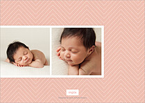 Beautiful Bundle Coral Birth Announcements Flat Cards - Back