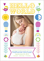 Big Dreams Birth Announcements Flat Cards - Front