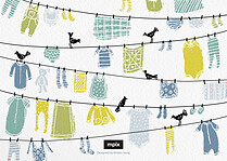 Clothesline Cheer Blue - Back
