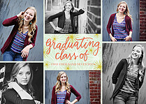 Cosmic Splendor Graduation Flat Cards - Front