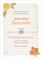 Darling Damsel Invite Wedding Invites Flat Cards - Front