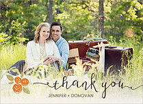 Darling Damsel Thanks Thank You Flat Cards - Front