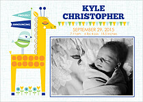 Exciting News Birth Announcements Flat Cards - Front