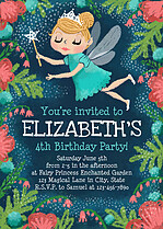 Fantastic Fairy Blonde Birthday Party Invitations Flat Cards - Front