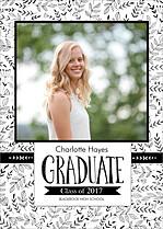 Fine Flora Graduation Flat Cards - Front