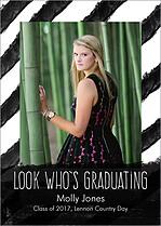 Fine Scholar Black Graduation Flat Cards - Front