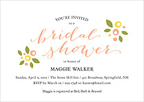 Sweetest Floral Shower Shower Invites Flat Cards - Front