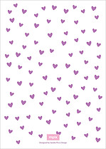 Floating Hearts Shower Shower Invites Flat Cards - Back