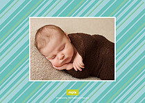Little Charmer Birth Announcements Flat Cards - Back