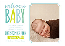 Little Charmer Birth Announcements Flat Cards - Front