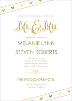 Love Story Invite Wedding Invites Flat Cards - Front