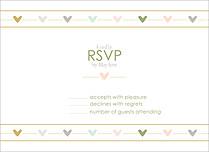 Love Story RSVP RSVP Flat Cards - Front