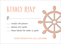 Lovely Harbor RSVP Coral RSVP Flat Cards - Front