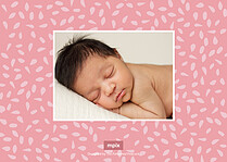 Precious Blessing Birth Announcements Flat Cards - Back