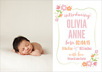 Precious Blessing Birth Announcements Flat Cards - Front