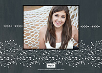 Serene Salute Chalk Graduation Flat Cards - Back