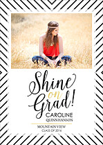 Shine On Graduation Flat Cards - Front