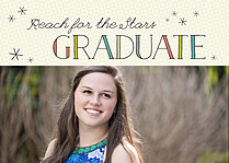 Stellar Nights Graduation Flat Cards - Front