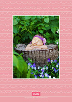 Sweet Love Birth Announcements Flat Cards - Back
