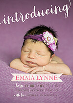 Sweet Love Birth Announcements Flat Cards - Front