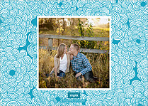 Breezing Beauty Date Blue Save the Date Flat Cards - Back