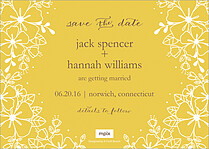 Cherished Vows Date Save the Date Flat Cards - Back