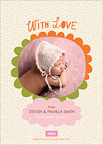 Darling Stroll Birth Announcements Flat Cards - Back