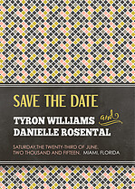 Dearest Diamonds Date Save the Date Flat Cards - Front
