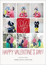 Dearest Valentine Valentine's Day Flat Cards - Front
