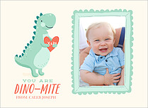 Dino Mite Valentine's Day Flat Cards - Front