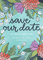 Fragrant Romance Date Save the Date Flat Cards - Front