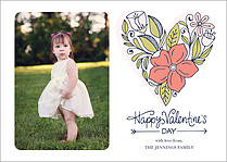 Growing Hearts Valentine's Day Flat Cards - Front