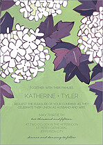 Hello Hydrangeas Invite Wedding Invites Flat Cards - Front
