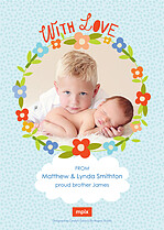 Hello Peanut Birth Announcements Flat Cards - Back