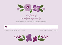 Lasting Lilac RSVP - Front
