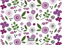 Lasting Lilac Thanks Thank You Flat Cards - Back