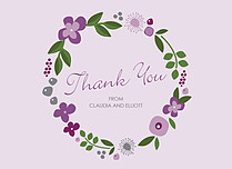 Lasting Lilac Thanks Thank You Flat Cards - Front