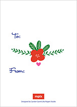 Marvelous Meadow Valentine's Day Flat Cards - Back
