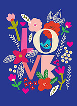 Marvelous Meadow Valentine's Day Flat Cards - Front