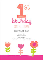May Flowers Birthday Party Invitations Flat Cards - Front