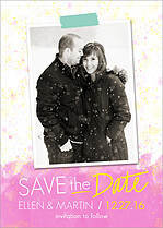 Miami Vibe Date Save the Date Flat Cards - Front