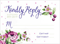 Midnight Rose RSVP RSVP Flat Cards - Front